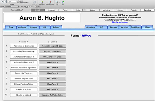 Office Forms - HearForm Feature