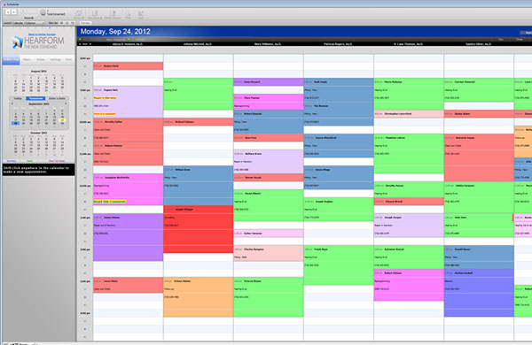 Scheduling Appointments - HearForm Feature