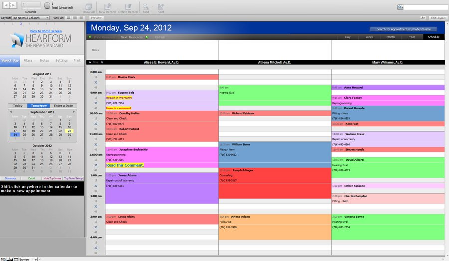 Schedule with Top Notes - Scheduling Appointments
